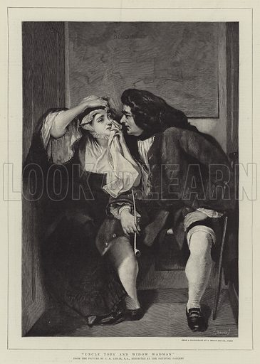 Uncle Toby and Widow Wadman. Illustration for The Graphic, 31 May 1890.