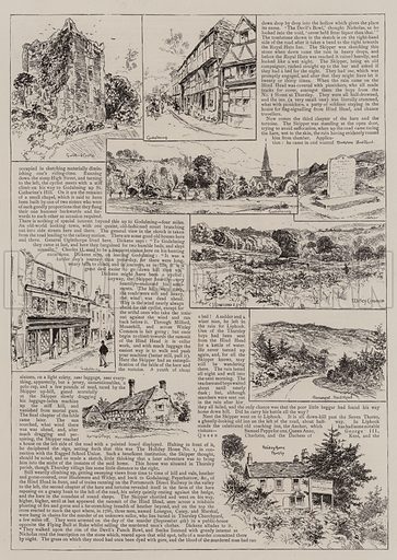 To Portsmouth with Nicholas Nickleby and Smike. Illustration for The Graphic, 23 July 1892.