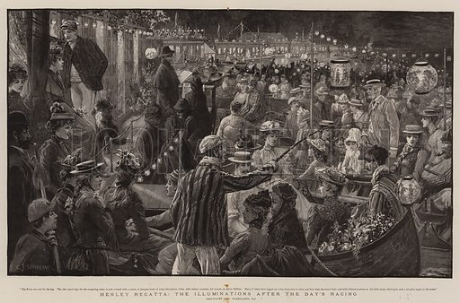 Henley Regatta, the Illuminations after the Day's Racing. Illustration for The Graphic, 9 July 1892.