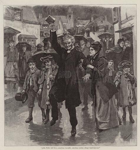 Illustration for The Exploration of the Reverend John Pedlar. Illustration for The Graphic, 15 December 1894.