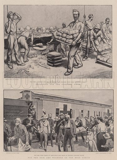 The War in South Africa. Illustration for The Graphic, 6 January 1900.