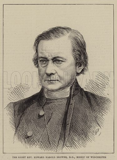The Right Reverend Edward Harold Browne, DD, Bishop of Winchester. Illustration for The Graphic, 16 August 1873.