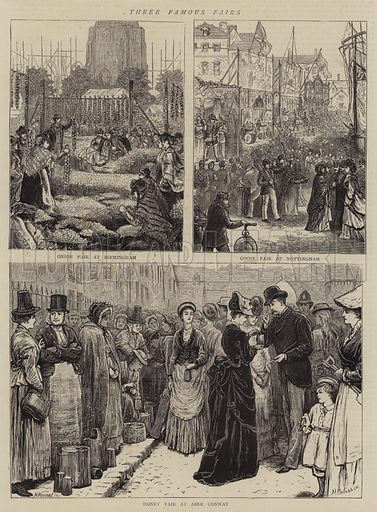 Three Famous Fair. Illustration for The Graphic, 11 October 1873.