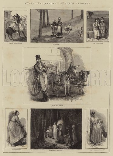 Character Sketches in North Carolina. Illustration for The Graphic, 15 November 1873.