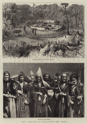 The Campaign in Asia, with the Turks. Illustration for The Graphic, 8 September 1877.