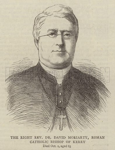 The Right Reverend Dr David Moriarty, Roman Catholic Bishop of Kerry. Illustration for The Graphic, 20 October 1877.