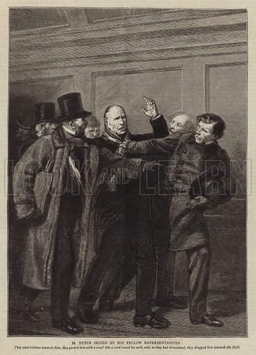Illustration for The History of a Crime, by Victor Hugo. Illustration for The Graphic, 27 October 1877.