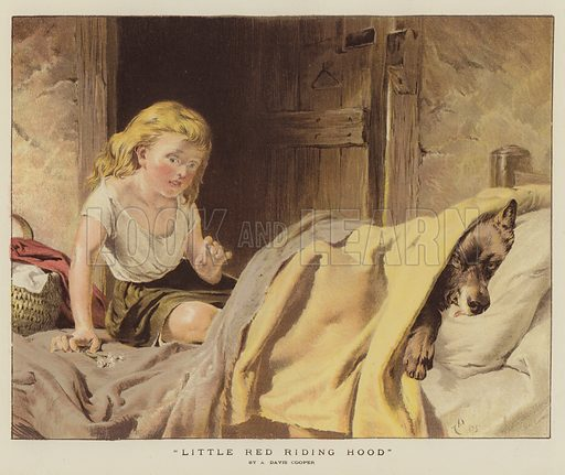 Little Red Riding Hood. Illustration for The Graphic, 20 April 1878.