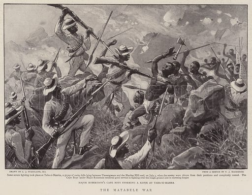 The Matabele War. Illustration for The Graphic, 15 August 1896.