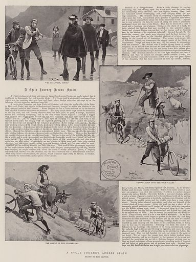 A Cycle Journey across Spain. Illustration for The Graphic, 5 September 1896.