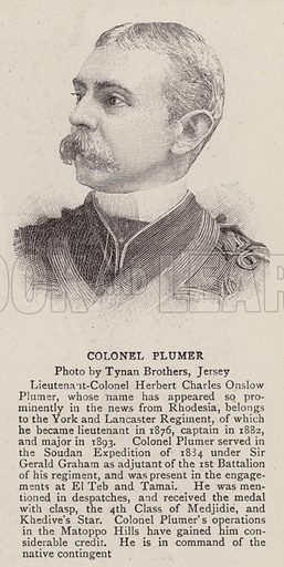 Colonel Plumer. Illustration for The Graphic, 5 September 1896.