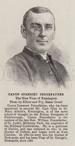 Canon Somerset Pennefather, the New Vicar of Kensington. Illustration for The Graphic, 28 November 1896.