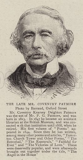 The Late Mr Coventry Patmore. Illustration for The Graphic, 5 December 1896.
