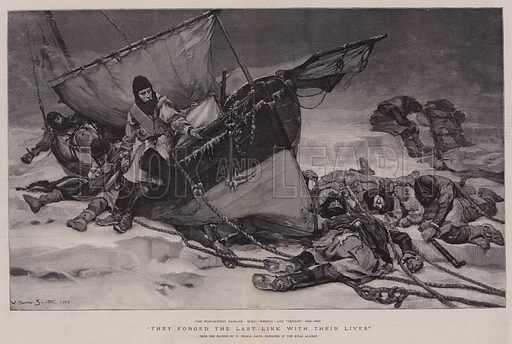 They forged the Last Link with their Lives. Illustration for The Graphic, 25 July 1896.