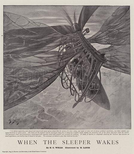 When the Sleeper Wakes. Illustration for The Graphic, 18 March 1899.