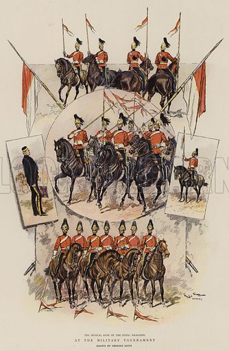 At the Military Tournament. Illustration for The Graphic, 1899.