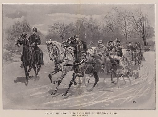 Winter in New York, Sleighing in Central Park