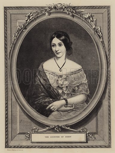 The Countess of Derby. Illustration for The Graphic, 1870.