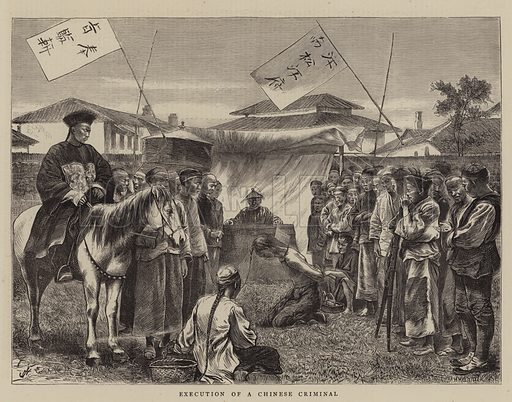 Execution of a Chinese Criminal. Illustration for The Graphic, 1870.