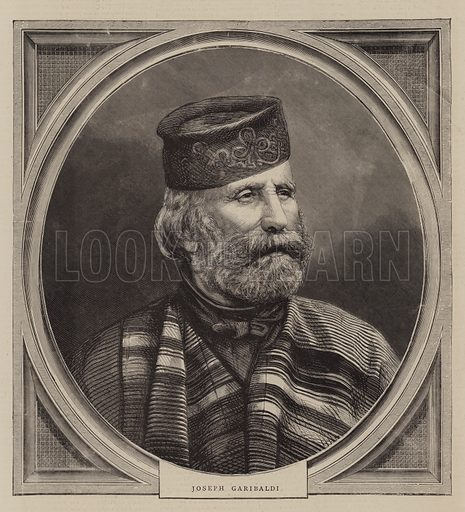 Joseph Garibaldi. Illustration for The Graphic, 10 December 1870.