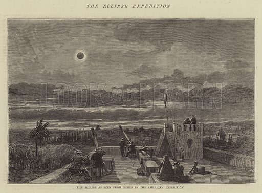 The Eclipse Expedition. Illustration for The Graphic, 21 January 1871.