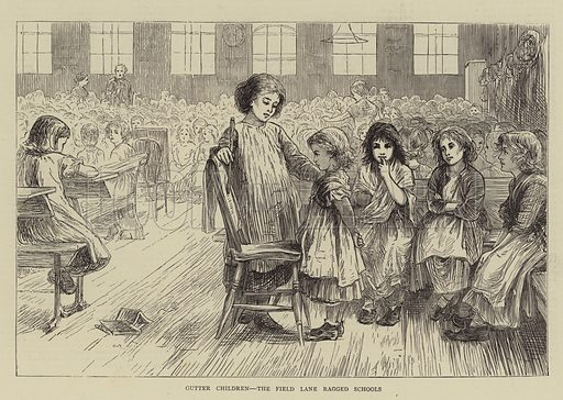 Gutter Children, the Field Lane Ragged Schools. Illustration for The Graphic, 20 May 1871.