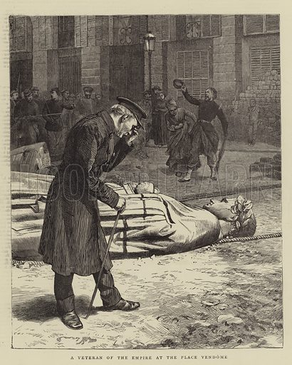 A Veteran of the Empire at the Place Vendome. Illustration for The Graphic, 3 June 1871.
