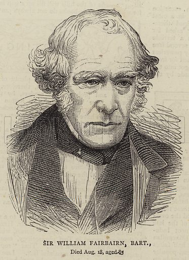 Sir William Fairbairn, Baronet. Illustration for The Graphic, 5 September 1874.