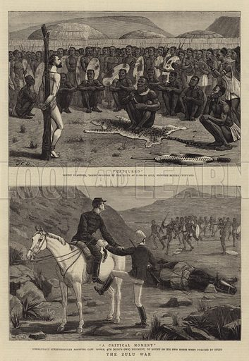 The Zulu War. Illustration for The Graphic, 12 July 1879.