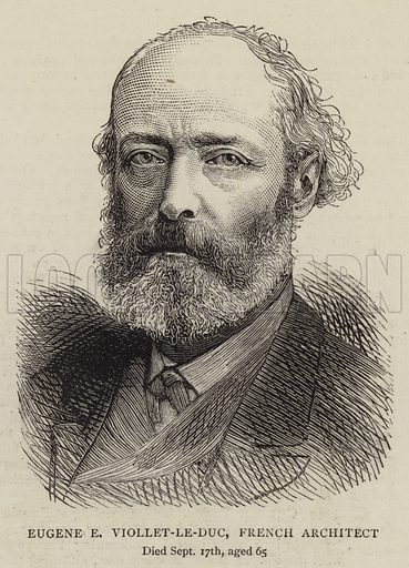 Eugene E Viollet-le-Duc, French Architect. Illustration for The Graphic, 11 October 1879.
