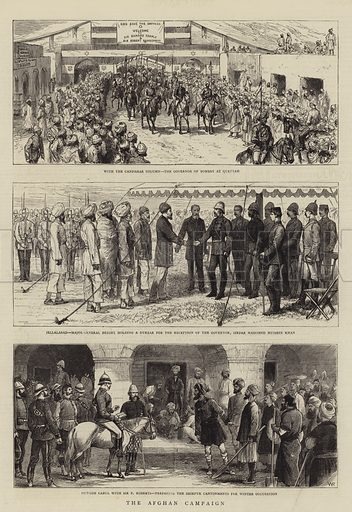 The Afghan Campaign. Illustration for The Graphic, 27 December 1879.