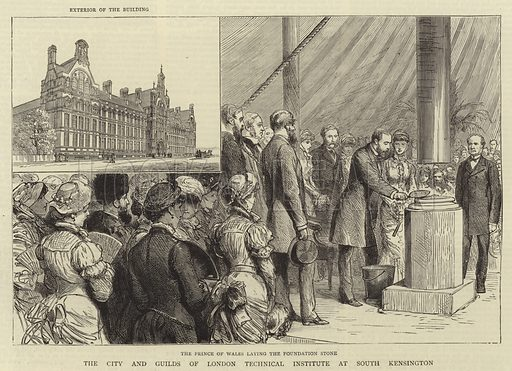 The City and Guilds of London Technical Institute at South Kensington. Illustration for The Graphic, 23 July 1881.