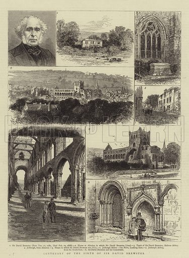 Centenary of the Birth of Sir David Brewster. Illustration for The Graphic, 10 December 1881.