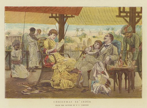 Christmas in India. Illustration for The Graphic, Christmas Number 1881.