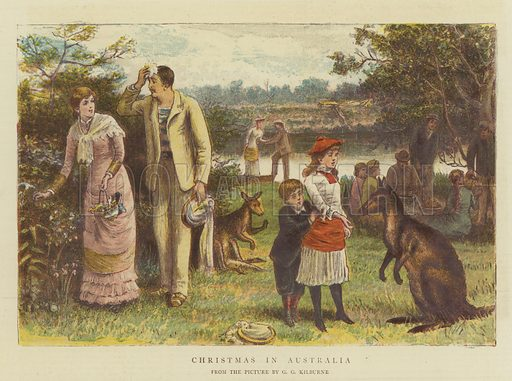 Christmas in Australia. Illustration for The Graphic, Christmas Number 1881.
