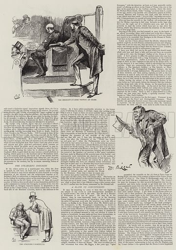 Life in Parliament, Strangers in the House. Illustration for The Graphic, 9 March 1889.
