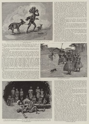 The History of a Slave. Illustration for The Graphic, 30 March 1889.