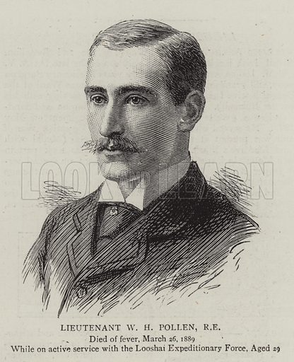 Lieutenant WH Pollen, RE Illustration for The Graphic, 18 May 1889.