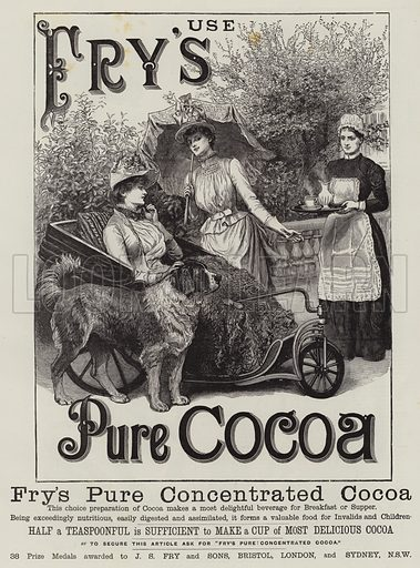 Fry's cocoa, picture, image, illustration
