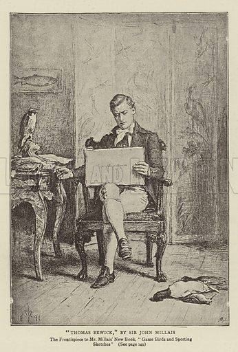 Thomas Bewick. Illustration for The Graphic, 30 January 1892.