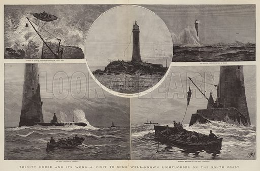 Trinity House and its Work, a Visit to some Well-Known Lighthouses on the South Coast. Illustration for The Graphic, 14 May 1892.