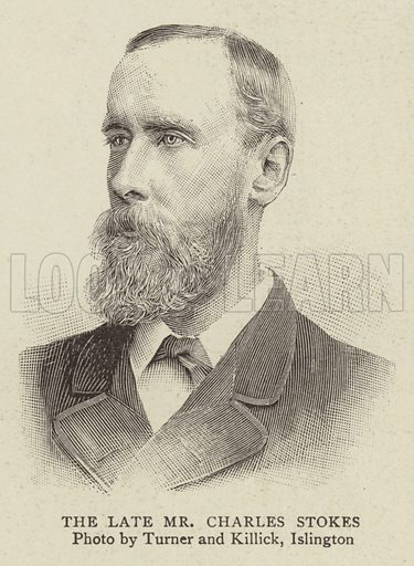 The Late Mr Charles Stokes. Illustration for The Graphic, 31 August 1895.