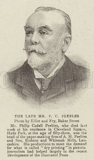 The Late Mr P C Peebles. Illustration for The Graphic, 7 December 1895.