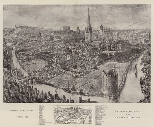 Norwich, picture, image, illustration