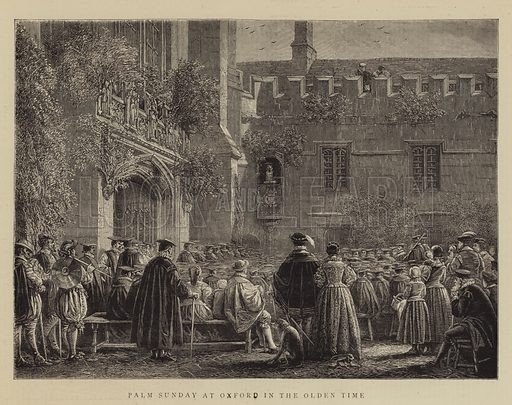 Palm Sunday at Oxford in the Olden Time