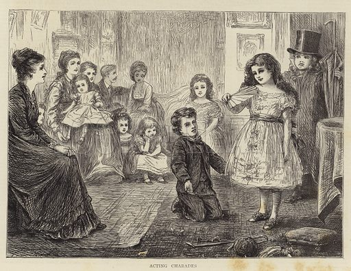 Acting Charades. Illustration for The Graphic, 25 November 1871.