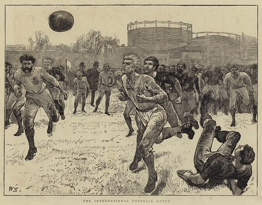 The International Football Match. Illustration for The Graphic, 24 February 1872.