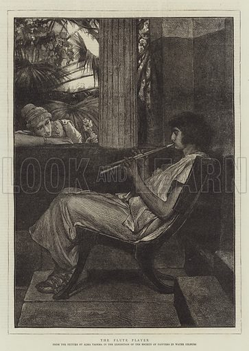 The Flute Player. Illustration for The Graphic, 28 February 1874.
