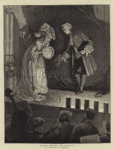 Called before the Curtain. Illustration for The Graphic, 18 April 1874.