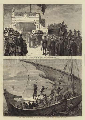 The Funeral of David Livingstone. Illustration for The Graphic, 25 April 1874.
